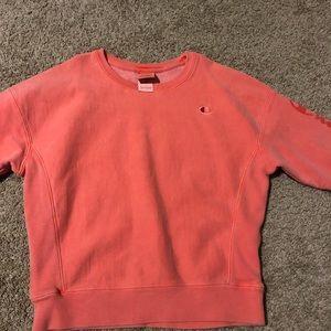 orange champion sweatshirt